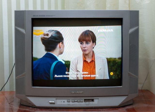 """Телевизор Sharp 21"""" до сих пор прекрасная картинка"""