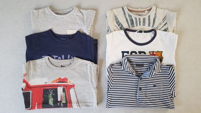 Zestaw Next koszulek 98 t-shirt bluzki bluzka FCB Reserved
