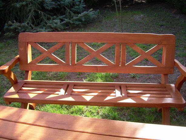 Meble ogrodowe drewniane stół + krzesło + ławka Producent