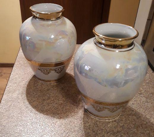 Stara porcelana ceramika Chodzież - 2 wazony