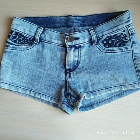 Детские джинсовые шорты для девочки размер 140