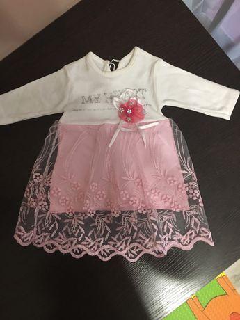 Нарядное платье/платье на крестины/платье для новорожденных