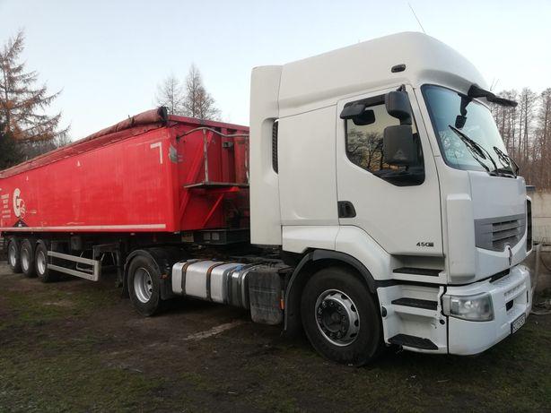 Naczepa wywrotka wanna GRAS 42M3 2011r + Renault Premium 450