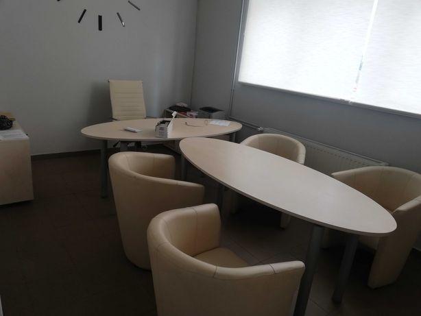 Meble biurowe krzesło fotel biurko zestaw