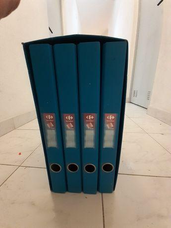 Conjunto de 4 × arquivadores com caixa de alojamento como novos