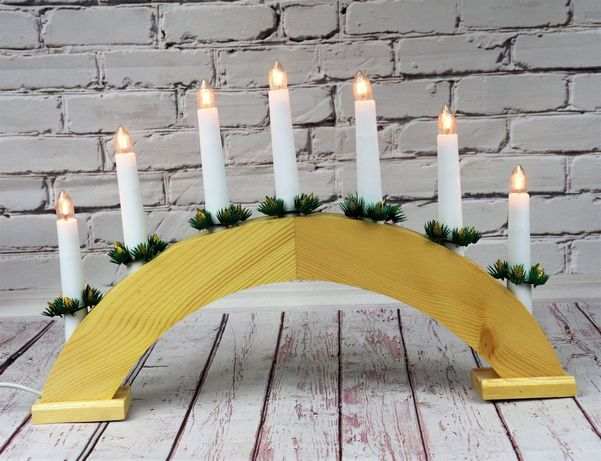 Świecznik Adwentowy 7 LED świece ŚWIĄTECZNY