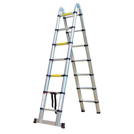 Escada telescópica retrátil de alumínio - 4,40 m