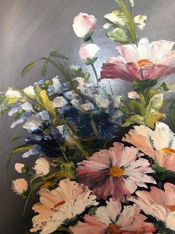 Obraz Kwiaty farba olejna - Bobrowska