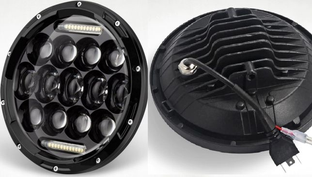 "Reflektor Lampa LED 7""-17,8cm. homologacja. Motocykl, samochód"