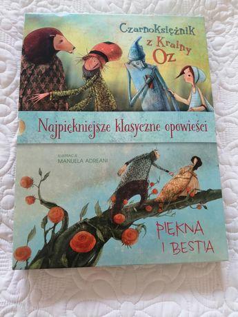 Zestaw książek Piękna i bestia Czarnoksiężnik z krainy Oz