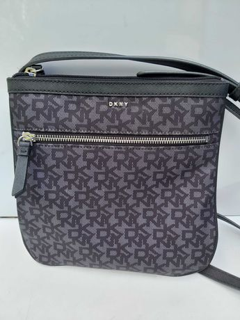 Torebka listonoszka DKNY monogram torba saszetka