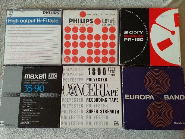 Szpulowe Taśmy magnetofonowe 18 cm