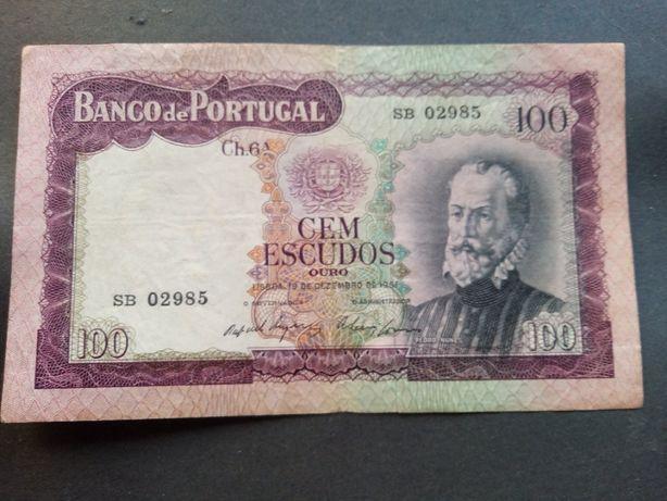 1 nota de 100$00 1961 Pedro Nunes MBC ver foto
