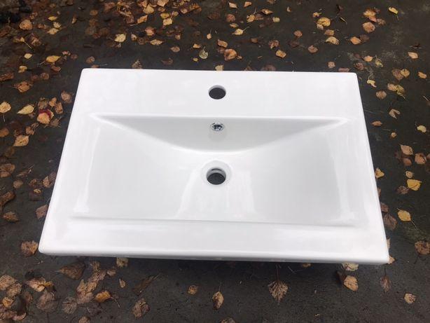 Umywalka ceramiczna wpuszczana 60 DEFTRANS BARCELONA prostokątna