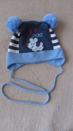 Демисезонная шапочка для мальчика 45-49