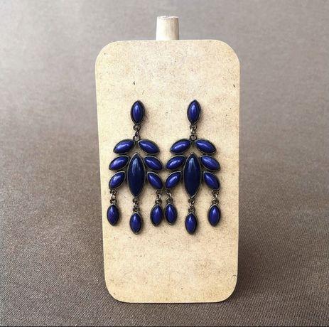 Brincos vintage azuis