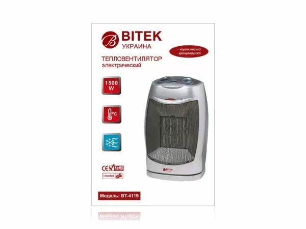 Тепловентилятор BITEK BT-4119 Ceramic, дуйка обогреватель керамический