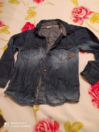 Рубашка джинсова 116