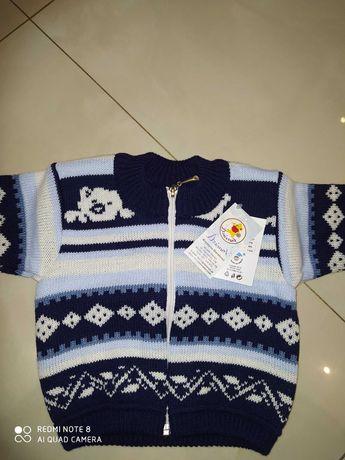 Sweterek niemowlęcy dla chłopca r.74 nowy