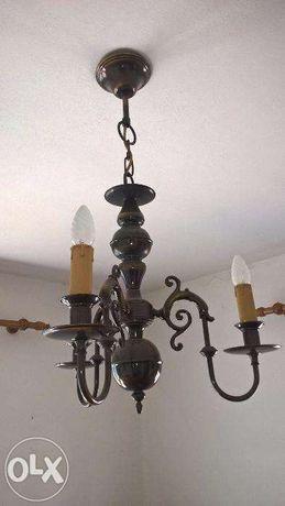 Vendo conjunto de 2 candeeiros tipo rústico