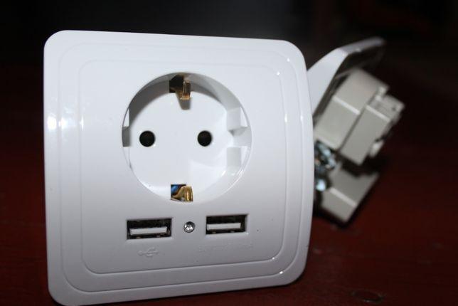 Розетка с USB портами
