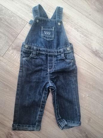 Ogrodniczki jeans spodnie chłopięce