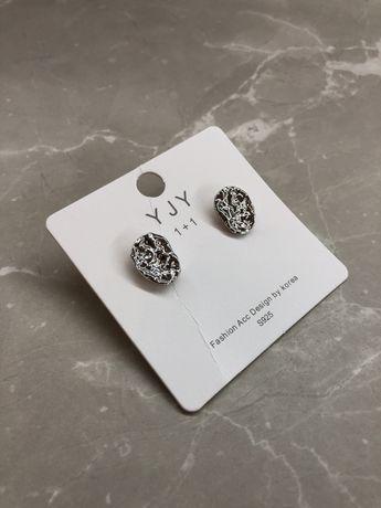 Срібні сережки / кульчики оригінальні сережки круглые серьги