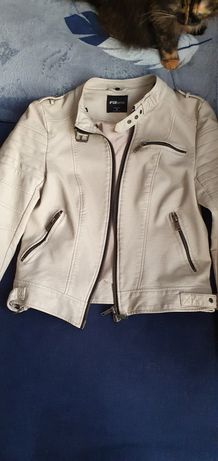Куртка косуха кожзам бежевая FBsister (new yorker)