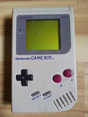 Gameboy Classic + 5 gier + 4 pudełka