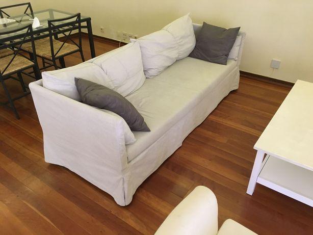 Recheio IKEA: sofá 3 lug, camas casal, espelho, electrodom, etc