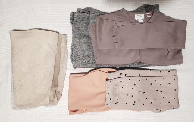 Ubrania ZARA, rozmiar 104, dla dziewczynki, idealne