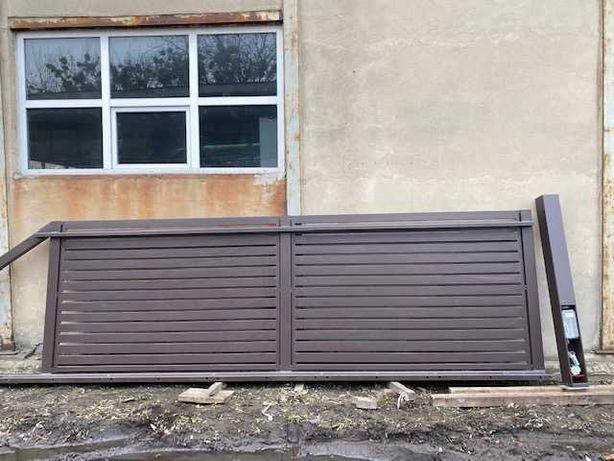 Brama przesuwna z napędem w słupku