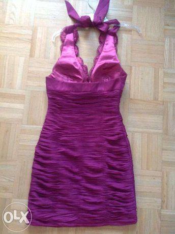 BICCI oryginalna suknia, sukienka fioletowa, na wesele - śliczna!