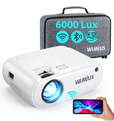 Projetor led 6000 lumens+WiFi+Bluetooth+Mala Transporte/1080P/4k (NOVO