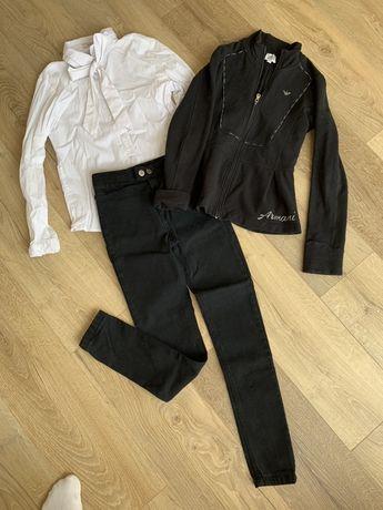 Кофта блуза джинси брюки комплект to be too armany