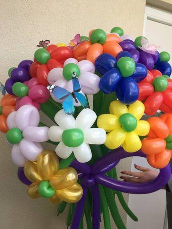 Цветы Из Шаров / Букет Из Воздушных Шариков / Огромный Букет Цветов