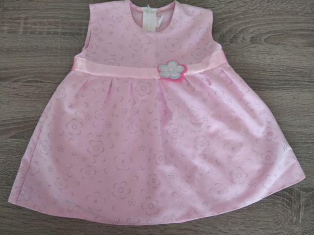 Sukienka dla dziewczynki rozm. 80 różowa