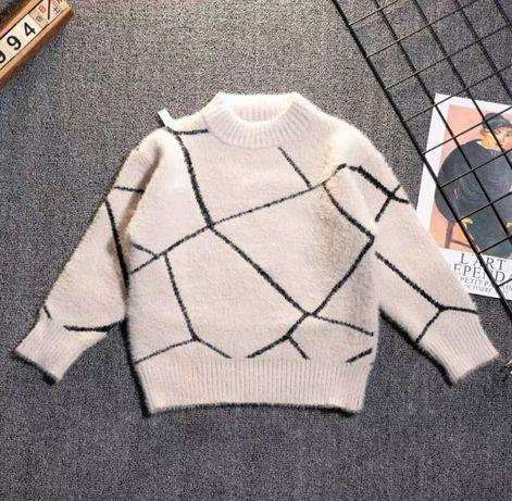 Модный зимний свитер, ангора, 90-120см