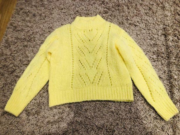 Sweter damski zolty