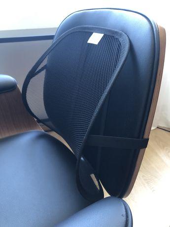 Apoio/Suporte costas/lombar ergonómico p cadeira de escritório e carro