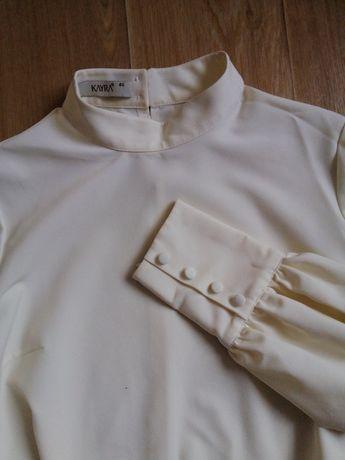 Блуза нарядная креп с воротником