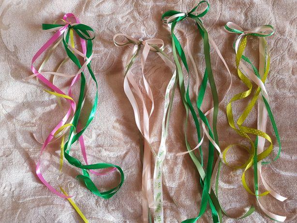 Wstążki gotowe ozdoby na auta gości weselnych przyssawki