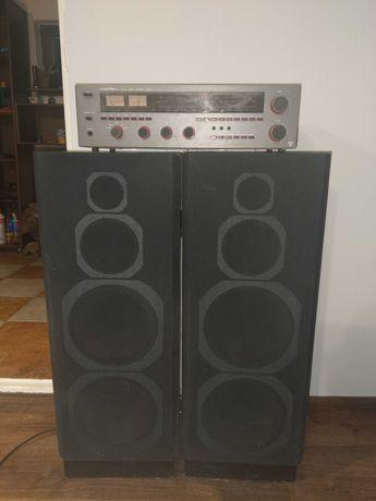 Amplituner Unitra ZRK AT9100 + 2x Unitra Tonsil / CATH SB 180