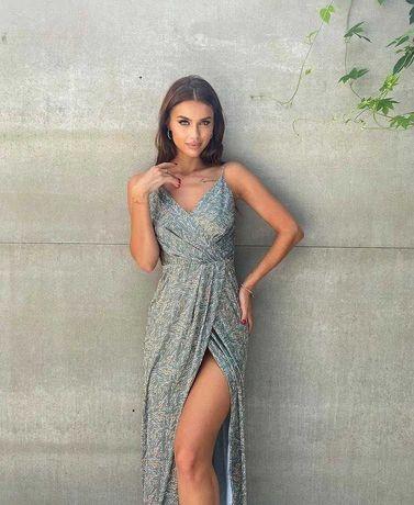 Сукня (оливкова, шовкова)