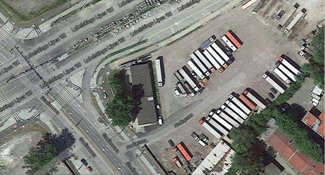 Parking samochodów ciężarowych TIR