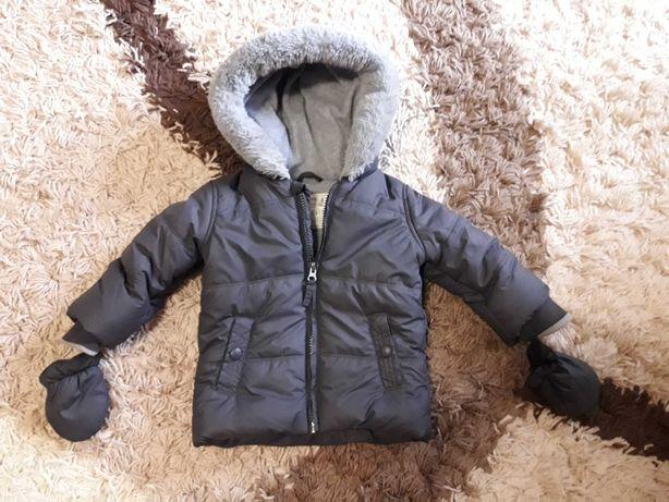 Куртка теплая 9-12 мес.