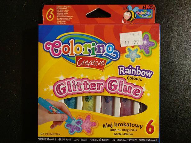 Klej brokatowy 6 kolorów 10,5 ml firmy Colorino