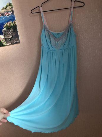 Ночная сорочка ночнушка для гв кормящих беременных вагiтних рубашка
