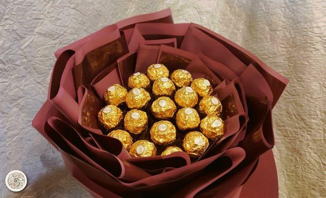 "Букет из конфет Ferrero Rosher ""Марсала"" 700грн"