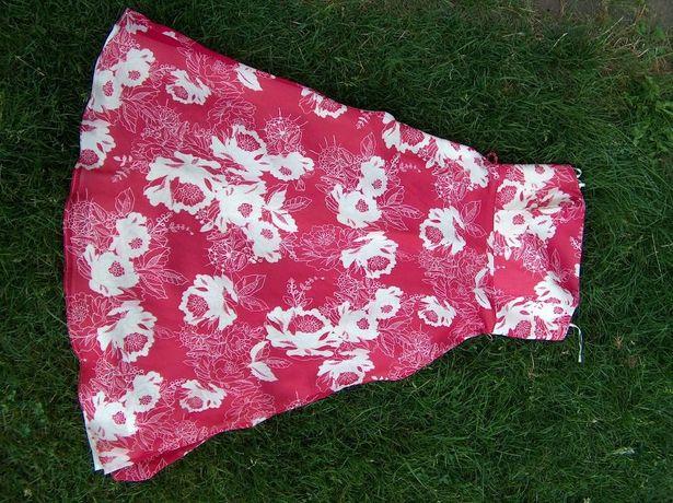 nowa sukienka czerwona na podszewce klasyczna 38